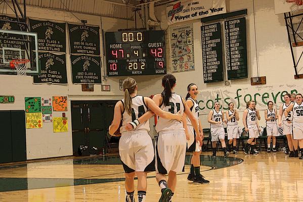 Bonny Eagle Varsity Basketball WIN 47 ~ 42 ~Senior Night