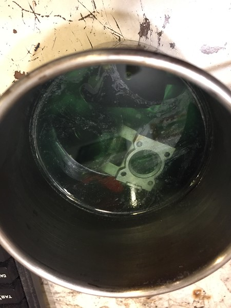Soaking the carb in Mean Green