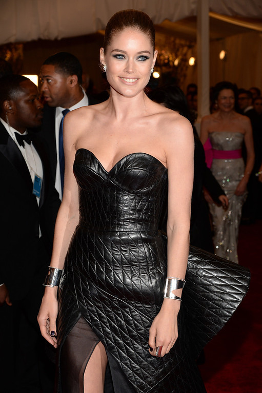 """. Doutzen Kroes attends the Costume Institute Gala for the \""""PUNK: Chaos to Couture\"""" exhibition at the Metropolitan Museum of Art on May 6, 2013 in New York City.  (Photo by Dimitrios Kambouris/Getty Images)"""