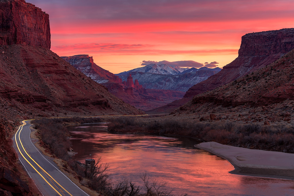 sunsets from utah Upper Colorado River Scenic Byway
