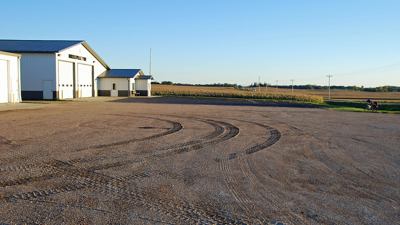 Looking south past Middleville Township Hall