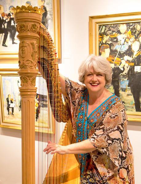 Emily with harp