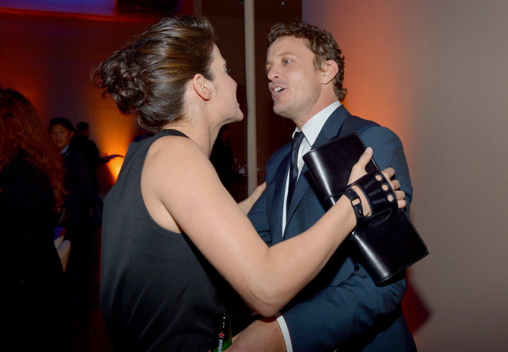 Description of . Actors Cobie Smulders (L) and David Lyons attend the premiere of Relativity Media's
