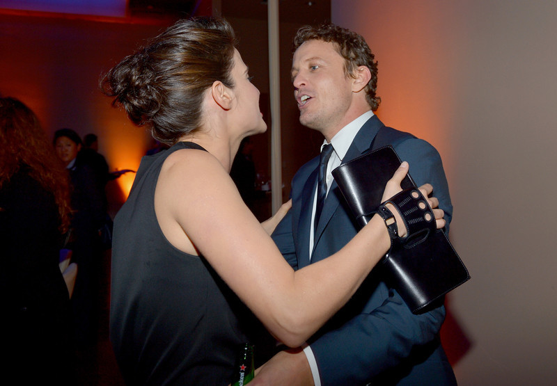 ". Actors Cobie Smulders (L) and David Lyons attend the premiere of Relativity Media\'s ""Safe Haven\"" after party at The Terrace At Hollywood & Highland on February 5, 2013 in Hollywood, California.  (Photo by Alberto E. Rodriguez/Getty Images for Relativity Media)"