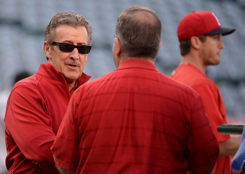 . ... and while some ill-advised spending has cost the Angels in recent years, the franchise is overachieving in 2017. (Photo by Keith Birmingham/ Pasadena Star-News)