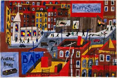 Jacob Lawrence, This is harlem (1943)