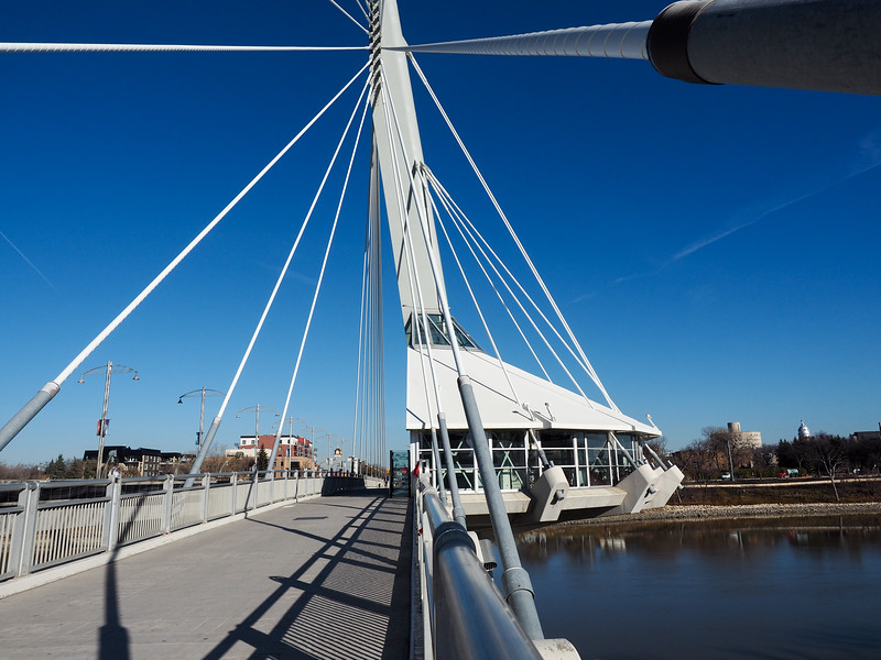 Esplanade Riel bridge in Winnipeg