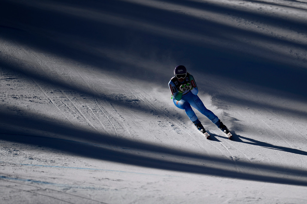 . BEAVER CREEK, CO - FEBRUARY 09: Tina Maze competes during Slovenia competes during the men\'s alpine combined final. FIS Alpine World Ski Championships 2015 on Monday, February 9, 2015. (Photo by AAron Ontiveroz/The Denver Post)