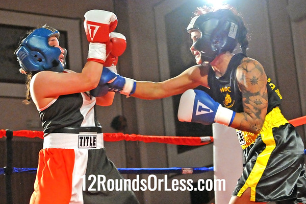 Bout 13 Gia Genco-Brown, West Side BC, Cleveland -vs- Alyssia Lopez Raul Torres Boxing, Cleveland, 125 lbs, Novice