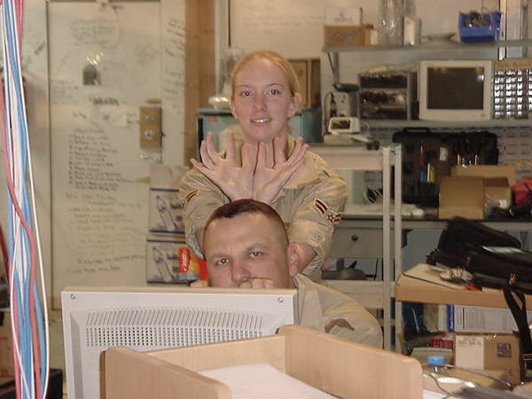 Lt Moose and Selina.JPG