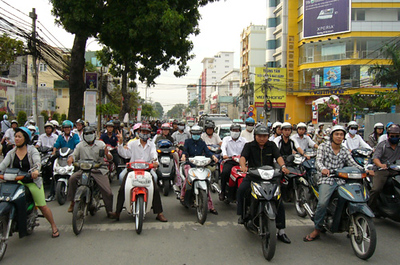 People lined up for miles and miles to witness Dan's inspection of sights around Saigon.