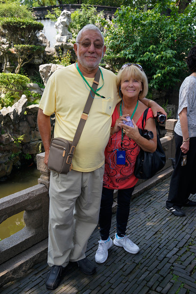Peter and Sue Norberto at Yu Garden, Shanghai