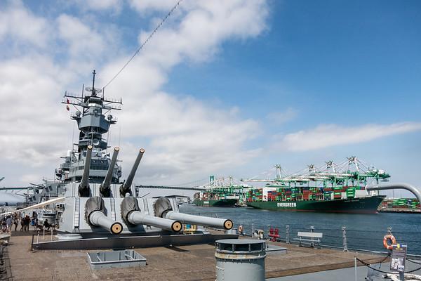 USS Iowa - LA Harbor