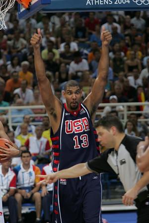 2004 Athens Olympics - USA vs Spain Mens Basketball