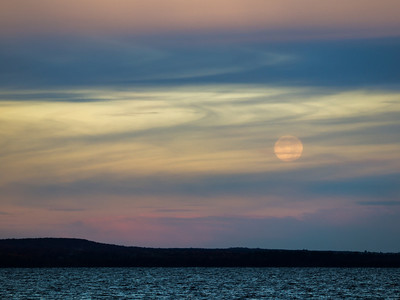 Moon over Indian Lake