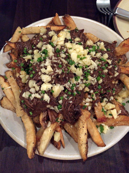 Poutine with short ribs at The Copper Grouse at the Taconic Hotel in Manchester, VT