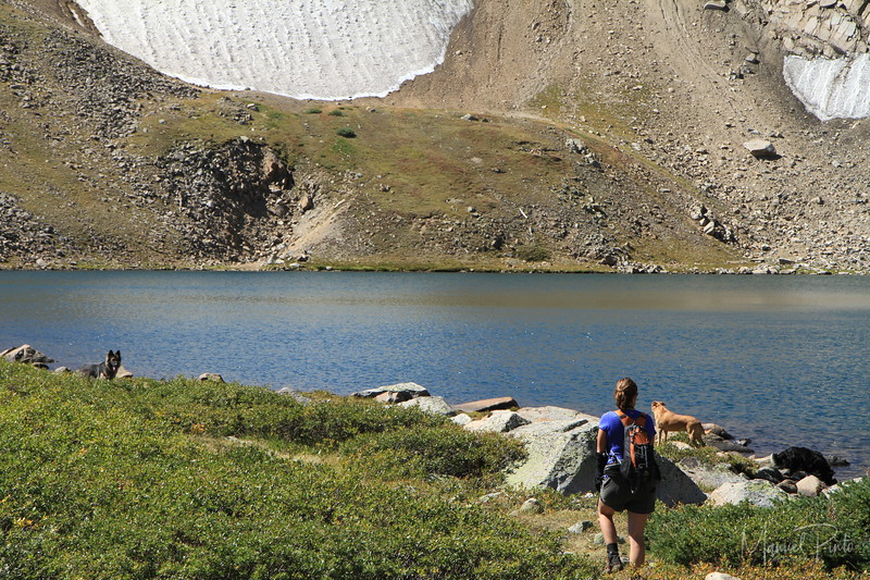 Kings Lake in August with last remaning snow