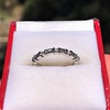 1.10ctw Round and Baguette Diamond Eternity Band 10