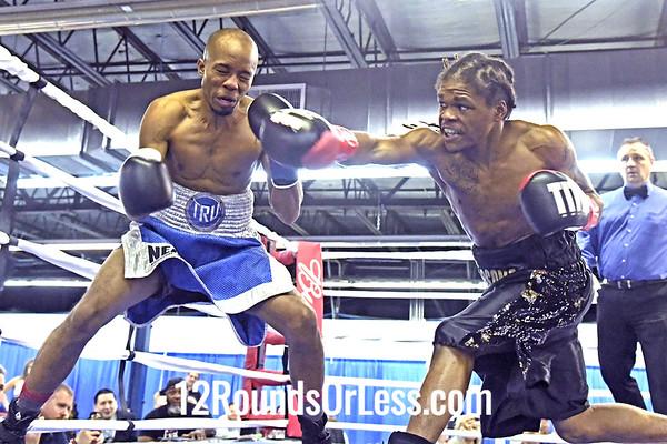 Bout 2: Pro Boxing Saleto Henderson, Red Wrist Wraps vs Michael Wooten, Blue Wrist Wraps Pro Boxing,