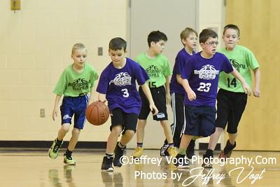 01/28/2017 4th Grade Boys Basketball Coach Mann, Photos by Jeffrey Vogt Photography