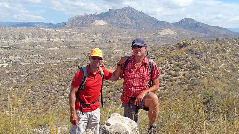 On our barren hills Campello Hike with the Cabezon in the background