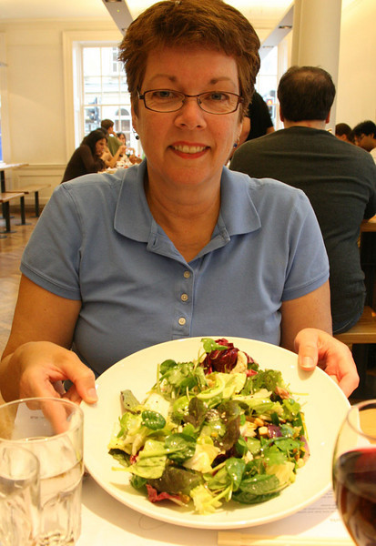 All kinds of food in England.  Here we are at Wagamama, a pan-Asian chain.  http://www.wagamama.com/