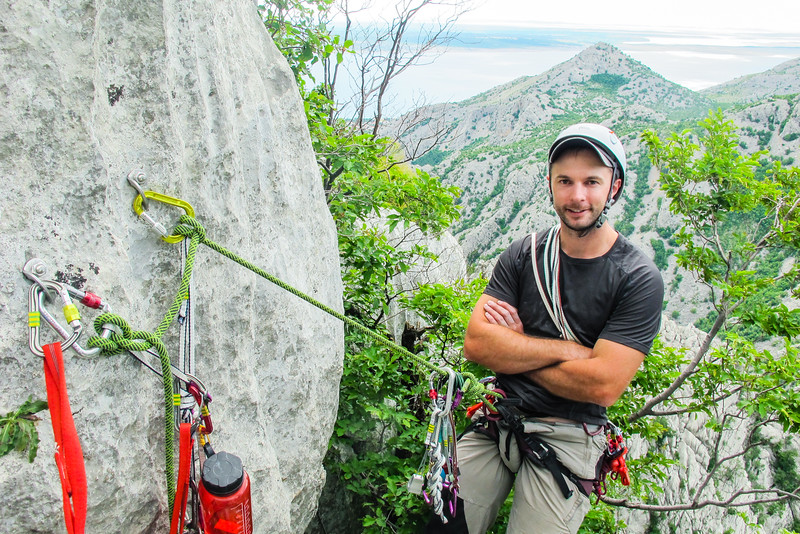 Me, climbing in Paklenica