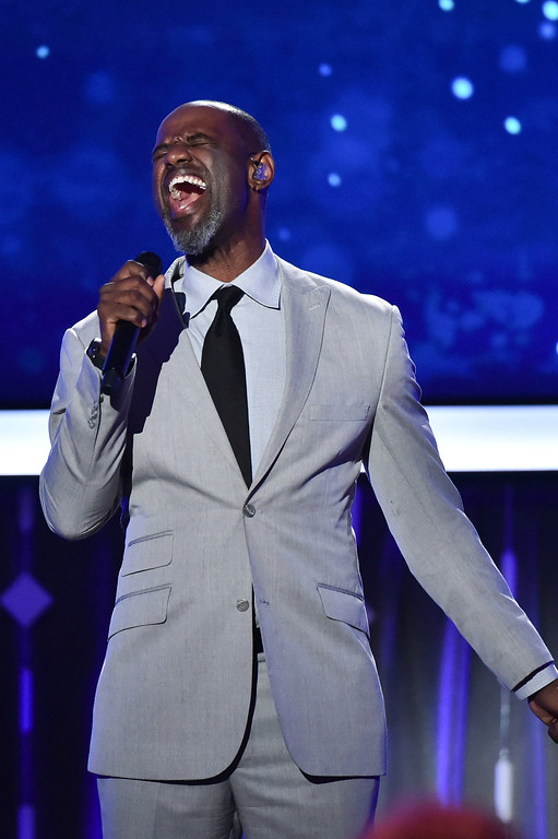 . Brian McKnight sings at AARP\'s 16th Annual Movies for Grownups Awards at the Beverly Wilshire Hotel on Monday, Feb. 6, 2017 in Beverly Hills, California. McKnight will perform May 21 at House of Blues Cleveland. For more information, visit houseofblues.com/cleveland. (Photo by Vince Bucci/Invision/AP)
