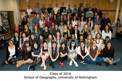 Class of 2016, School of Geography, University of Nottingham