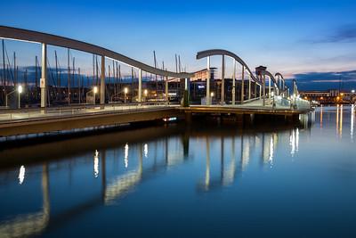 Barcelona Harbour sunrise