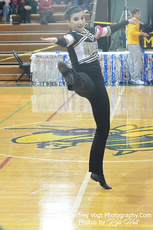 1-17-2015 Richard Montgomery HS Varsity Poms at Damascus HS Invitational, MCPS Championship, Photos by Jeffrey Vogt Photography with Kyle Hall