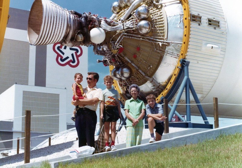 1976- my first visit to KSC.  I'm on the right.