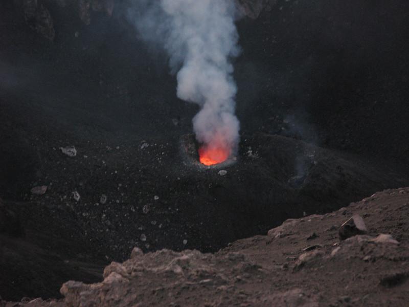 Magma chamber on Stromboli