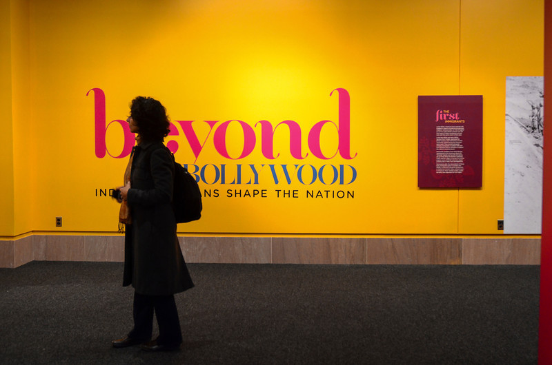 """Beyond Bollywood exhibition at the  National Museum of Natural History Washington DC March 2014.  """"Beyond Bollywood: Indian Americans Shape the Nation is an inspirational look at the history and contributions of a community that uniquely merges Indian and American culture.""""  http://www.sites.si.edu/exhibitions/exhibits/beyondbollywood/"""
