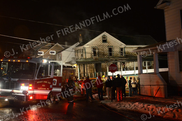 Northumberland County - Coal Twp. - Dwelling Fire - 01/28/2013