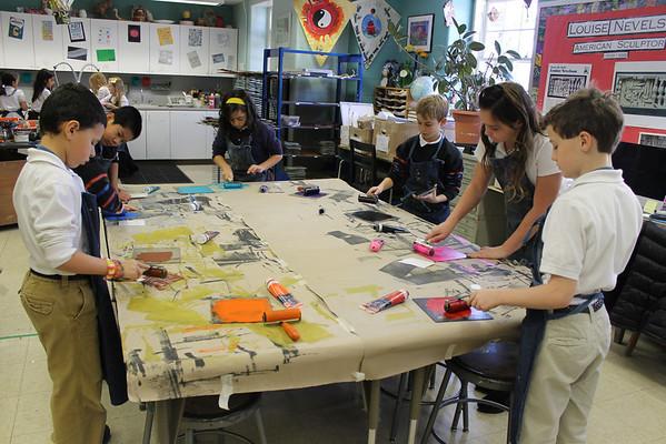 3rd Grade Reduction Printmaking