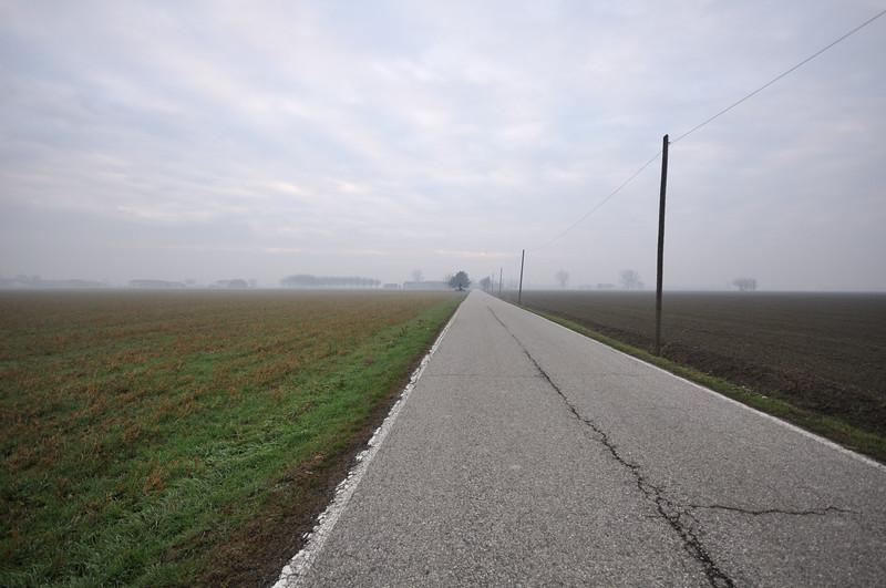 Via Cappelletta Stoffi - San Giacomo delle Segnate, Mantova, Italy - January 2, 2012