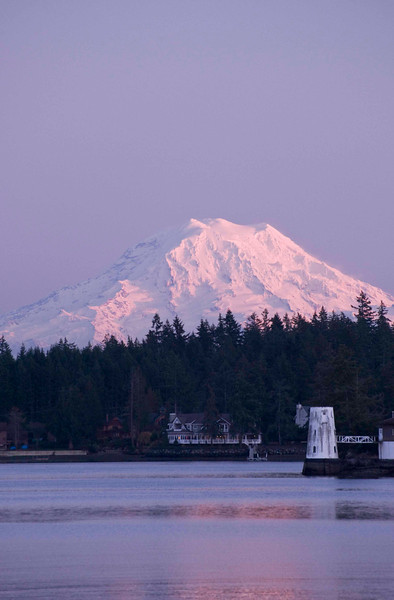 Lovely Mt. Rainer, one more time in the last light of the day