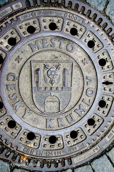 Manhole cover, Cesky Krumlov