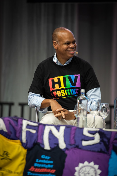 22nd International AIDS Conference (AIDS 2018) Amsterdam, Netherlands.   Copyright: Steve Forrest/Workers' Photos/ IAS  Photo shows: Special Session: The legacy of Prudence Mabele: Championing gender justice and health equity. Patrick Gaspard, Open Society Foundations, United States.