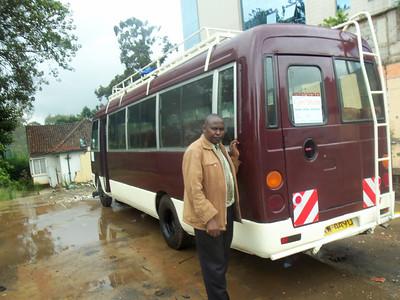2012-11-29 Kenyan Pastor Mulwa with New Bus
