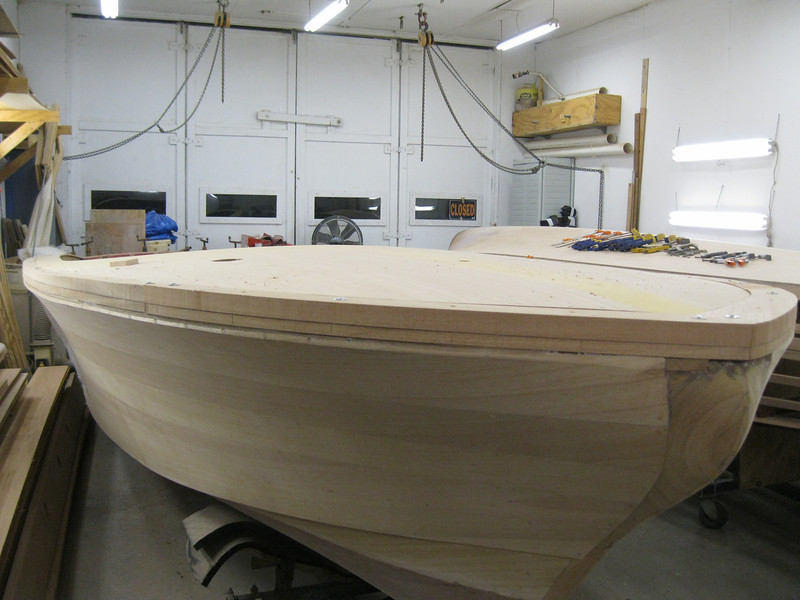 Front starboard view of cover board fit.