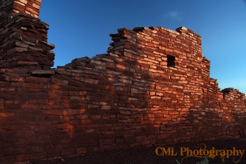 Redwall II Lomaki Pueblo at Wupatki National Monument.