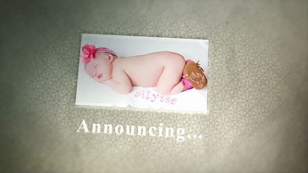 Baby anouncement digital
