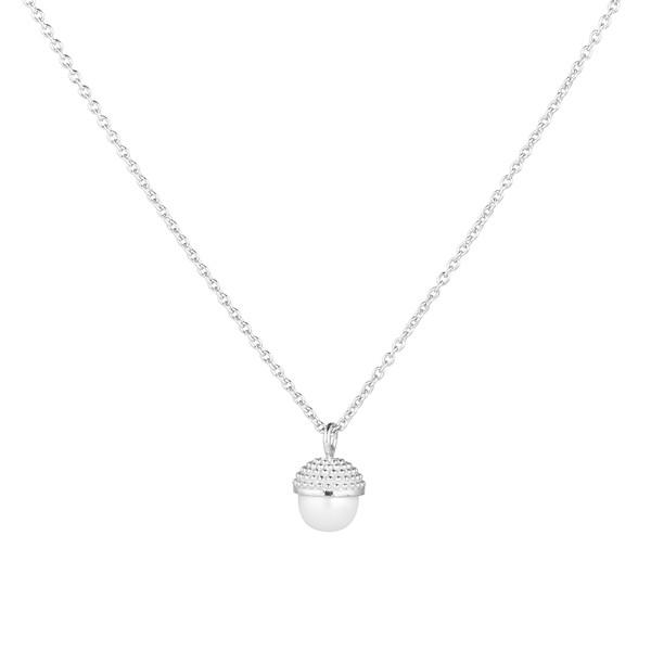 Pearl bubble short neck 70-75 silver