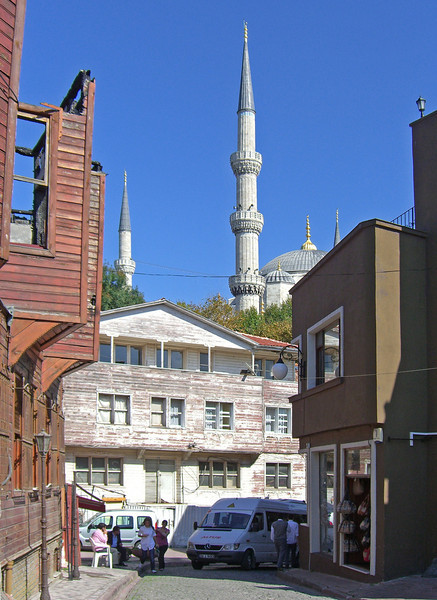 119. Approaching the Blue Mosque.