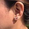 .52ctw Carre Cut Diamond Stud Earrings 5