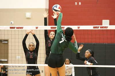 191001 Weiss Wolves vs Connally Cougars Volleyball