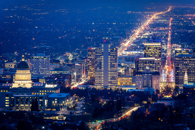 Salt Lake City Skyline - January 2020