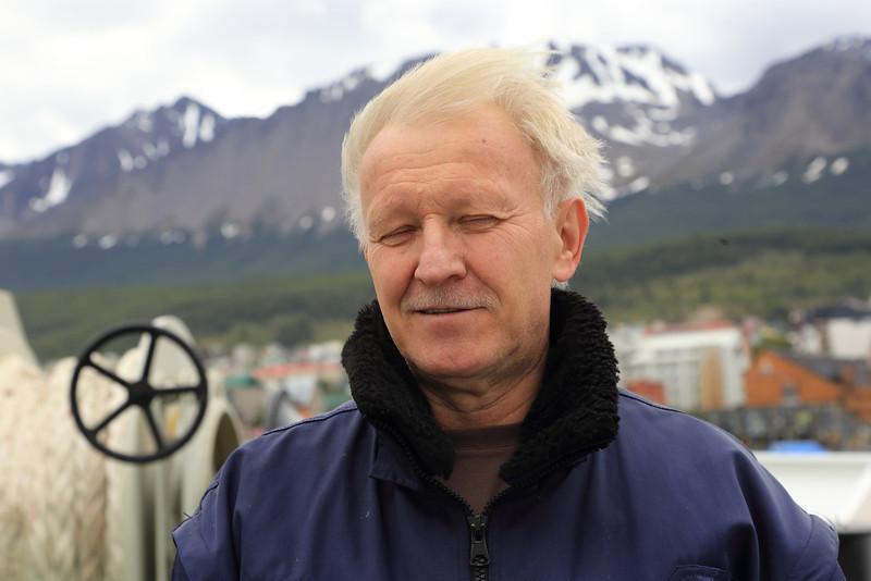Antarctica - Jan 2013 - Sergey Vavilov Circle Trip,   The Vavilov's chief engineer, Jan 2013